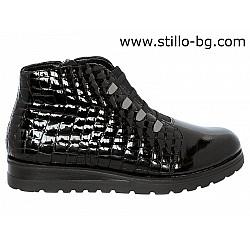 Дамски спортни обувки REMONTE от естествен лак с кроко щампа - 27477