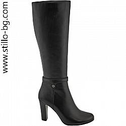 Дамски кожени ботуши с висок ток - 27806 -от размер №33-38