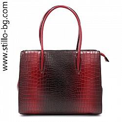 Дамска чанта в цвят бордо - 0028