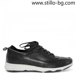 Мъжки спортни обувки от естествена черна кожа - 28330