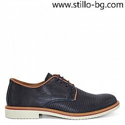 Тъмносини мъжки обувки от естествена кожа - 28369