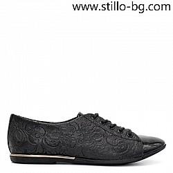 Дамски обувки от естествена кожа с щампа  - 28103