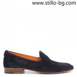 Мъжки обувки от естествен син велур - 28433