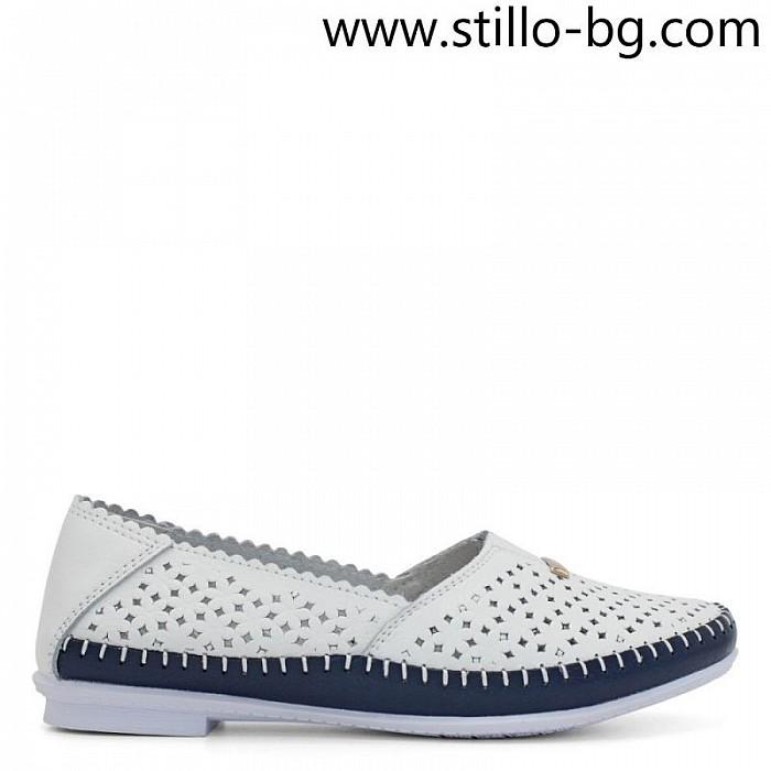08402d4258b Stillo магазини за обувки, Бели дамски обувки от естествена кожа с ...