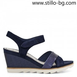 Сини сандали Tamaris на средна платформа - 28584