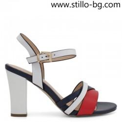 Дамски сандали на висок ток в три цвята - 28670