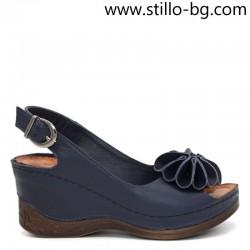 Анатомични сини кожени сандали с размери от № 34 до 42 - 28889