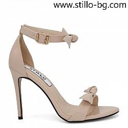 Стилни дамски сандали със затворена пета на ток - 28920