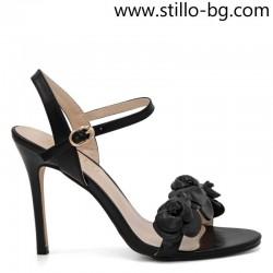 Елегантни дамски сандали с декорация на висок ток - 28975