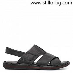 Мъжки кожени сандали с дебело ходило - 29020