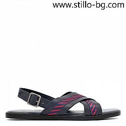Тъмносини мъжки сандали от естествена кожа - 29024