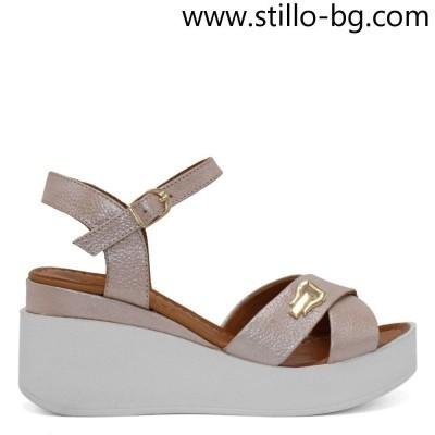 Розови дамски сандали с номера започващи от 34 - 28796