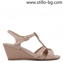 Mалки номера - 33 , 34 и 35 кожени сандали на  холандски ток  - 29097