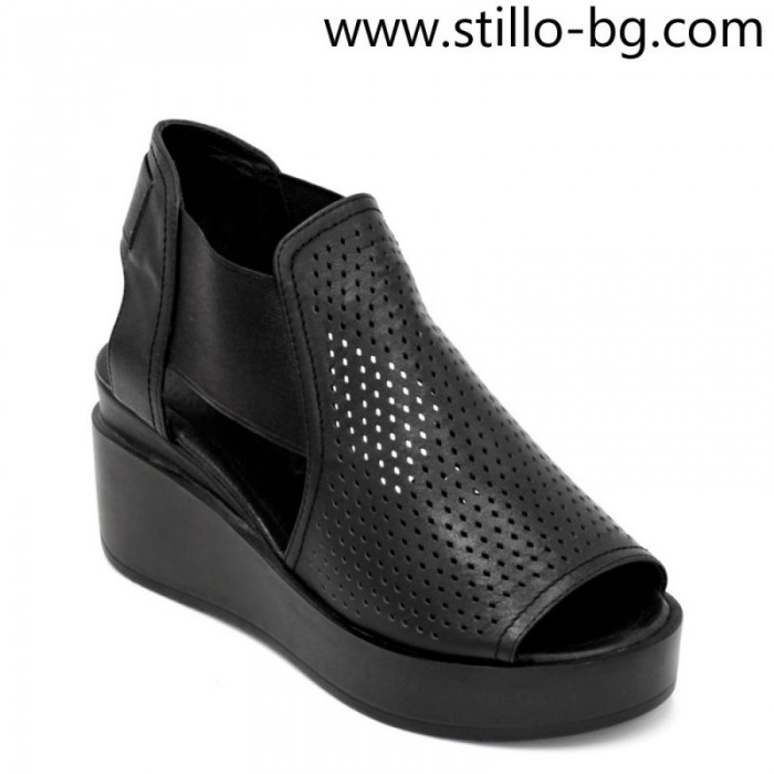 5f4362d9ce6 Stillo магазини за обувки, Летни дамски боти с перфорация и отворени ...