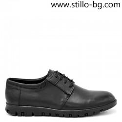 Мъжки обувки от естествена кожа с дебело ходило - 29173