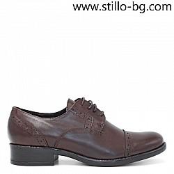 Дамски обувки с швейцарска перфорация от естествена кожа   - 29192