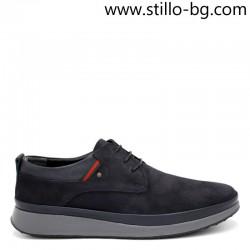 Мъжки обувки от естествен велур с дебела подметка  - 29209