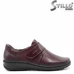 Анатомични бордо обувки от естествена кожа  - 29473