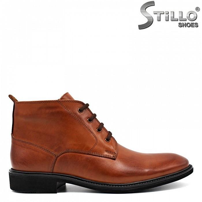 ea06f1ad1fd Stillo магазини за обувки, Елегантни мъжки боти от кафява кожа - 29864