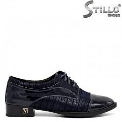 Естествени сини обувки с връзки, малки номера - 30091