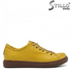 Спортни обувки в цвят горчица - 30148
