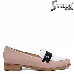 Розови модни обувки от естествен лак - 30328