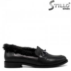 Модни дамски обувки с пух  - 30364