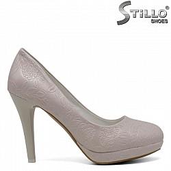 Бледорозови обувки на висок ток и платформа  - 30408