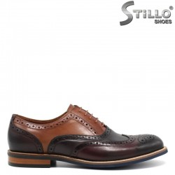 Трицветни мъжки обувки с перфорация- 30465