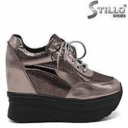 Бронзови спортни обувки на танк платформа - 30477