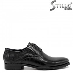 Официални мъжки обувки с кроко щампа - 30486