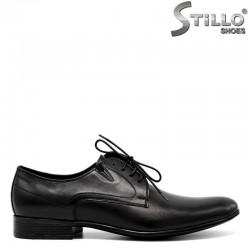 Мъжки кожени обувки  с връзки - 30502
