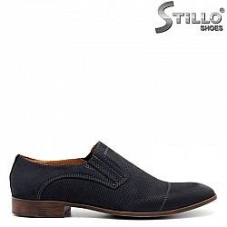 Обувки от син набук  - 30508