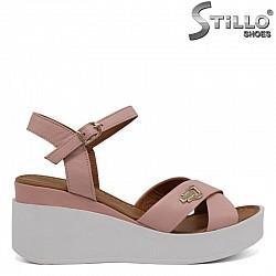 Ежедневни розови сандали на платформа, малки номера от №34   - 30621