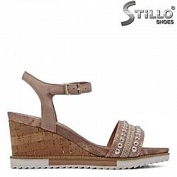 Кожени сандали TAMARIS  с капси - 30780