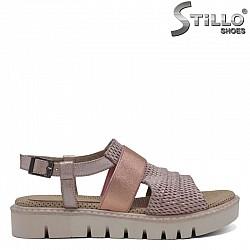 Дамски сандали от естествена кожа - 30881
