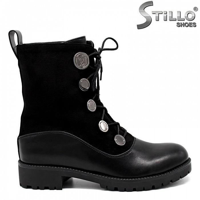870f335df88 Stillo магазини за обувки, Дамски кубинки от еко кожа и велур с ...