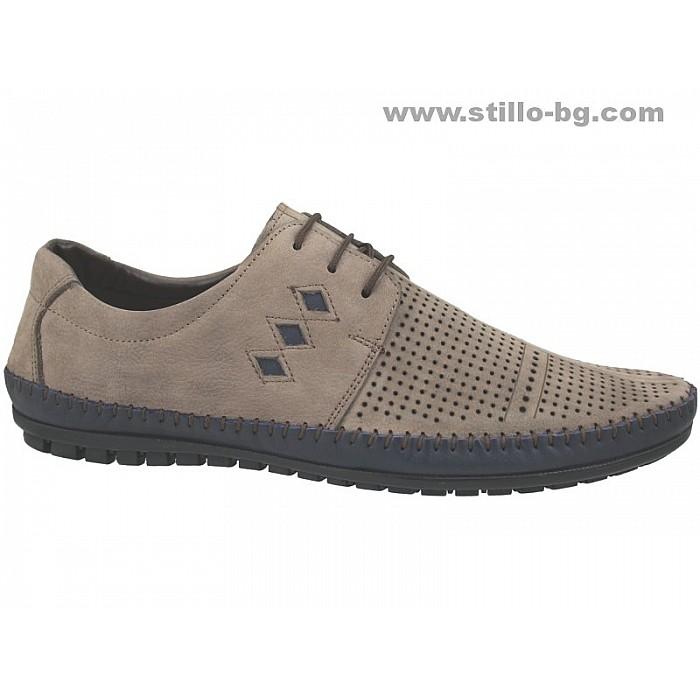Арт. 24684 - Летни мъжки обувки от естествен набук