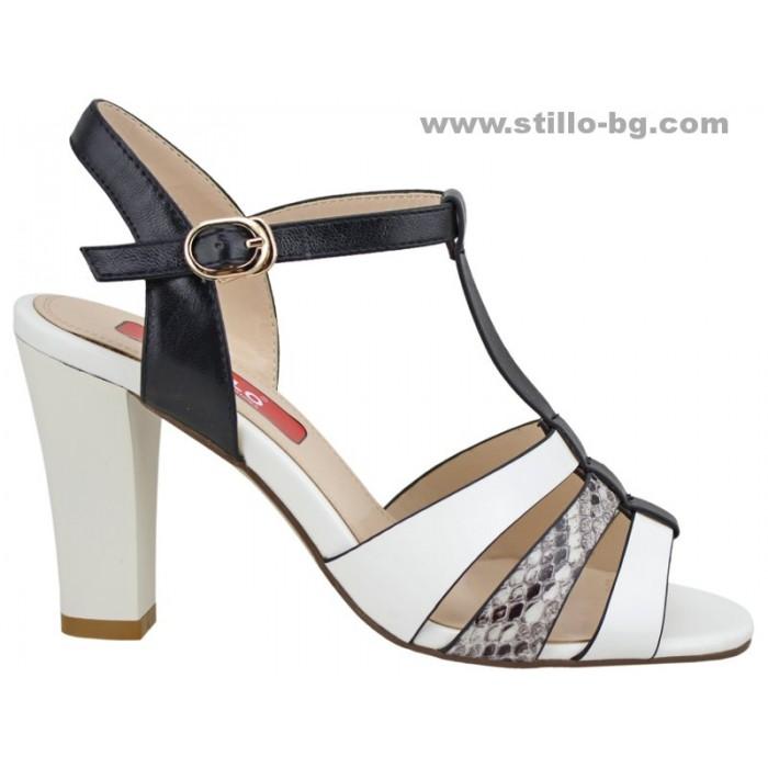 Арт. 24554 - Елегантни дамски сандали с висок широк ток