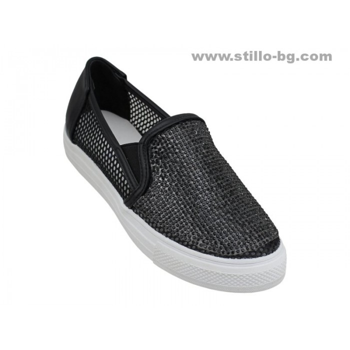 Арт. 24837 - Черни спортни обувки с мрежа