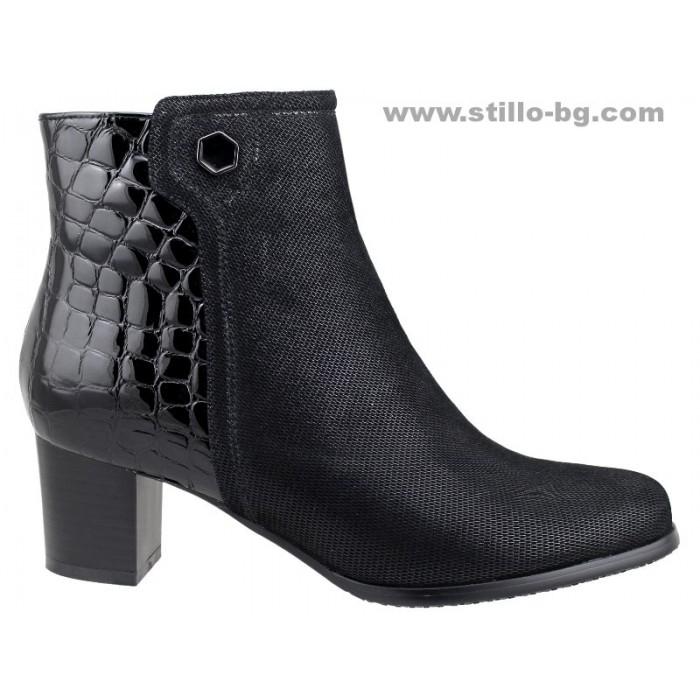 1f93780608d Stillo магазини за обувки, 25675 - Дамски боти със среден ток от ...
