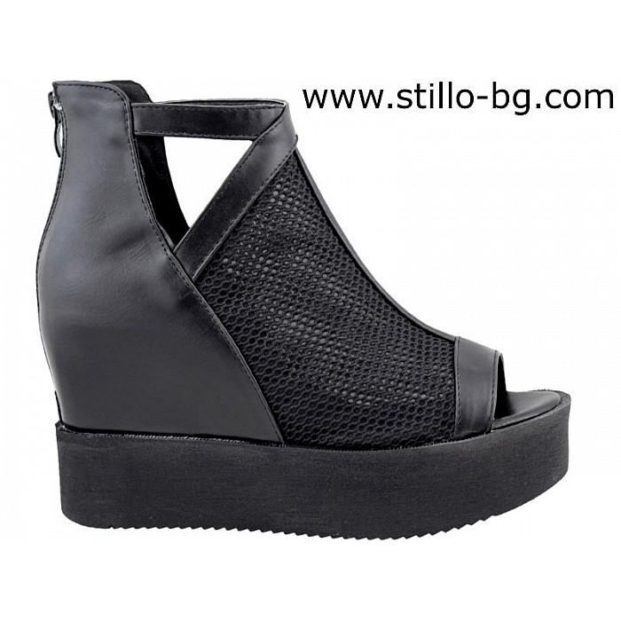 4ae03045022 Stillo магазини за обувки, Летни боти с вътрешна платформа - 26721